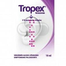 Tropex 5 % ausų lašai, tirpalas