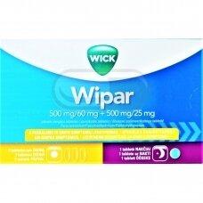 Wipar 500 mg/60 mg + 500 mg/25 mg plėvele dengtos tabletės N16